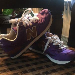 Purple New Balance 574's